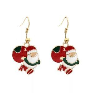 🎅Christmas Santa Claus Enameled Dangle Earrings